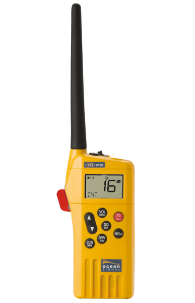 V100 GMDSS handheld VHF radio with Lithium battery