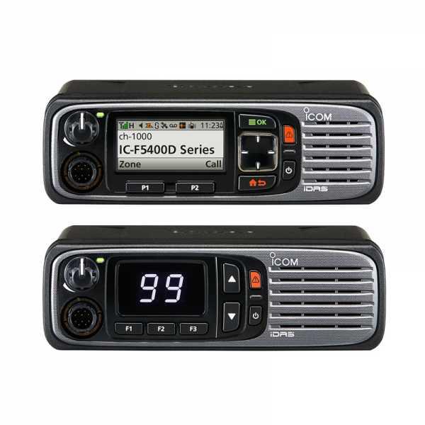Das IC-F5400D Mobilfunkgerät Frontansicht