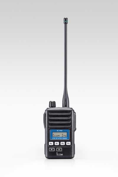 Das IC-F61V ATEX Handfunkgerät Frontansicht