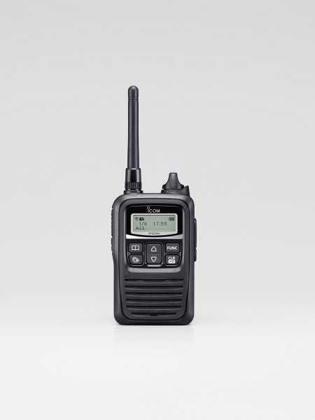 Das IP100H Funkgerät (im WLAN Funknetz) Frontansicht - mit langer Antenne
